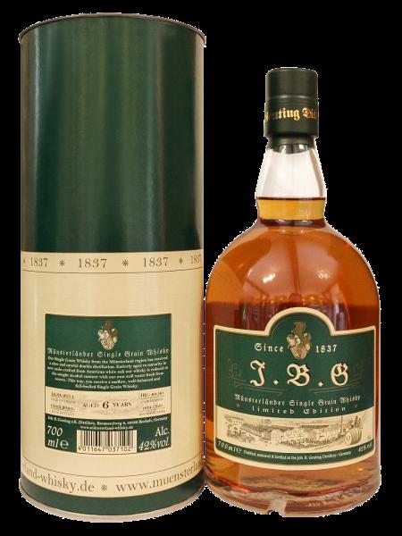 J.B.G Münsterländer Single Grain Whisky, 42%vol., 6 Jahre, neue Fässer