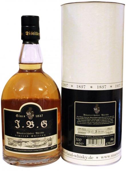 J.B.G Münsterländer Whisky 5 Jahre, 43%vol. - Limitiert auf 300/0,7l Flaschen.