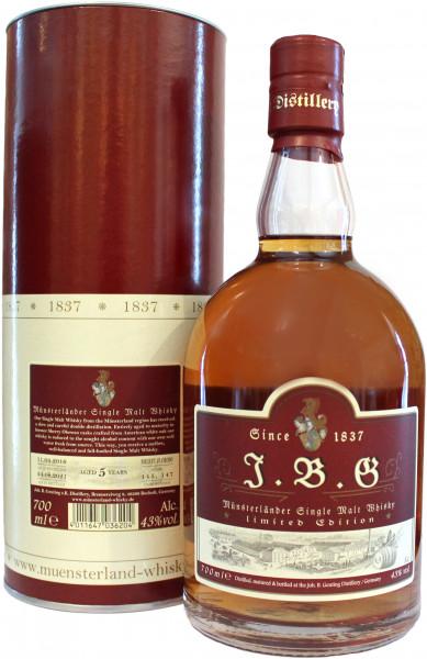 J.B.G Münsterländer Single Malt Whisky 43 %vol., 5 Jahre, Sherry Oloroso cask